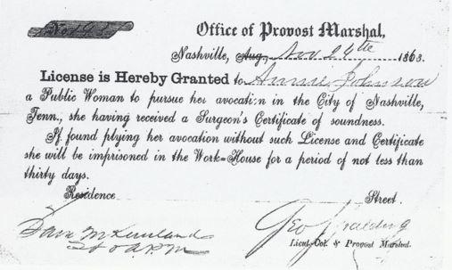 Prostitute license